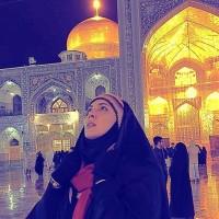 عکس لیلا بلوکات در حرم امام رضا