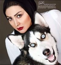 عکس جدید مریم معصومی با سگ