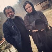 عکس مهراوه شریفی نیا با حسن پورشیرازی