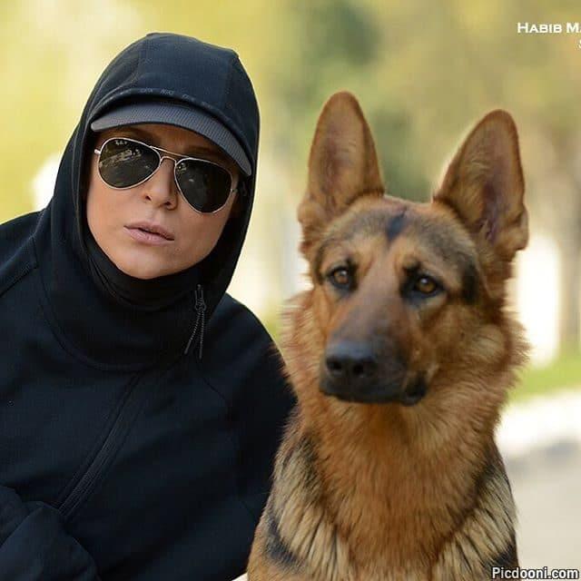 عکس سحر دولتشاهی با سگ