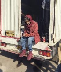 عکس ترلان پروانه پشت کامیون