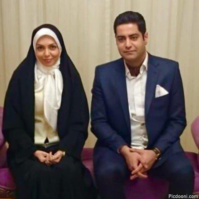 عکس آزاده نامداری با همسرش