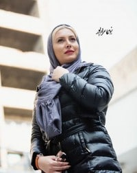عکس فریبا نادری با کاپشن