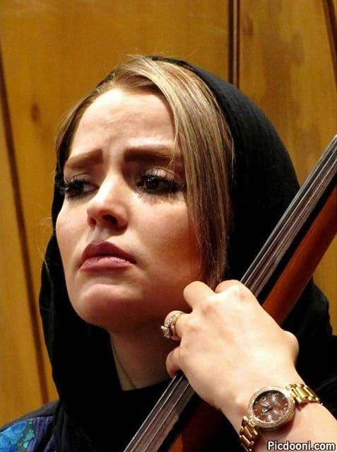 عکس سپیده خداوردی سر تمرین ارکستر ملی