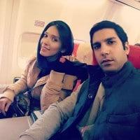 عکس شهرزاد کمال زاده در هواپیما