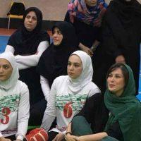مهتاب کرامتی در جمع تیم ملی والیبال نشسته بانوان و آقایان