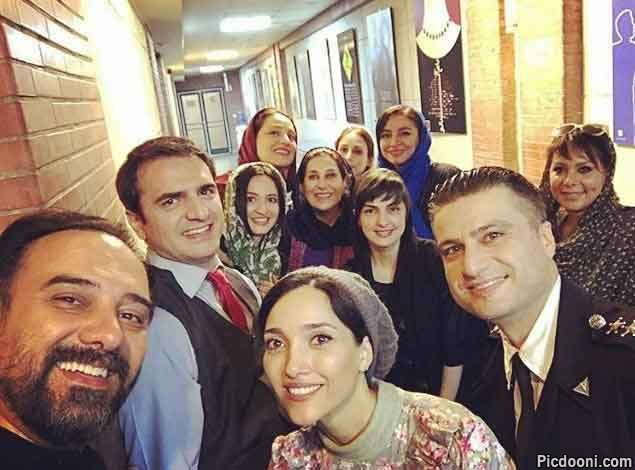 عکس گلاره عباسی با دوستان