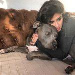 عکس سپیده علایی و سگش