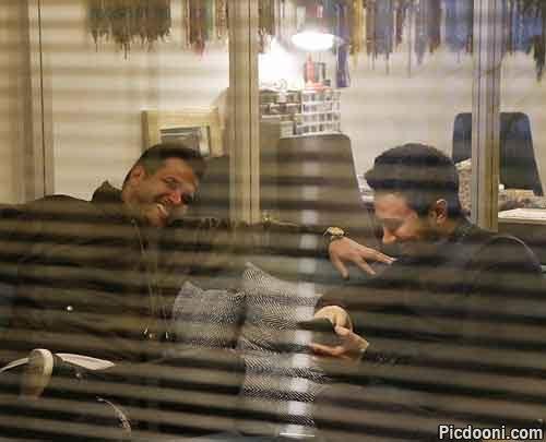 رفقای قدیمی: سیاوش خیرابی و شاهرخ استخری